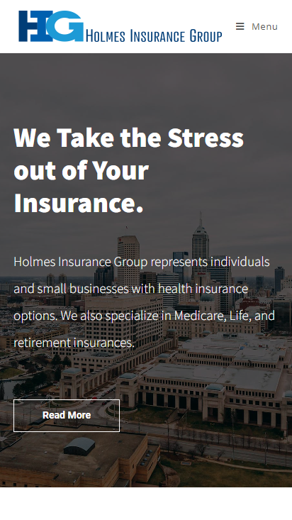 Holmes Insurance Group Mobile Image for Portfolio
